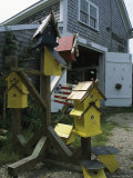 Bird Houses for Sale Outside a Barn Photographic Print by Darlyne A. Murawski