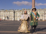 A Couple Dress as Catherine the Great and Czar Alexander Photographic Print by Richard Nowitz