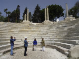 Tourists Photograph an Ancient Roman Theater Photographic Print by Richard Nowitz