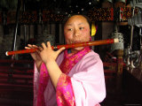 The Musician is Playing a Chinese Flute at the Temple of Eternal Lámina fotográfica por Nowitz, Richard