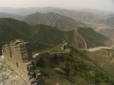 The Great Wall of China at the Juyongguan Pass Fotoprint van Richard Nowitz