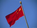 The Chinese National Flag Waves in the Breeze Photographic Print