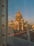 The Golden Dome of Saint Isaacs Cathedral Photographic Print by Richard Nowitz