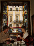 A Couple Drink Russian Tea at the Grand Hotel Europa Photographic Print by Richard Nowitz
