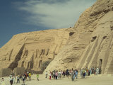 The Facades of the Abu Simbel Temples Dedicated to Ramses Ii Photographic Print by Richard Nowitz