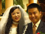 A Smiling Bride and Groom Photographic Print by Richard Nowitz