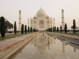 View of the Taj Mahal Early in the Morning Lmina fotogrfica por Justin Guariglia