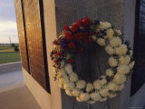 A Wreath Adorns the Pennsylvania Memorial at Gettysburg Photographic Print by Raymond Gehman