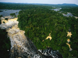 An Aerial View of the Mingouli Falls, on the Ivindo River Photographic Print by Michael Nichols