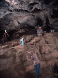 Archeologists Examine Possibly the Earliest Known Human Remains in a Cave Photographic Print by Ira Block