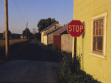 A Stop Sign in a Rural Alley Photographic Print by Raymond Gehman