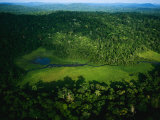 An Aerial View of Langoue Bai, a Waterhole Carved Out by Elephants Photographic Print by Michael Nichols