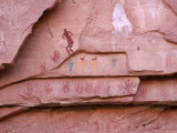 Ancient Pueblo-Anasazi Rock Art Depictions of People and Hands Photographic Print by Ira Block