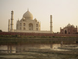 The Rear View of the Taj Mahal Seen Across the Yamuna River Photographic Print