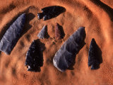 Ancient Anasazi Arrowheads in Sand Photographic Print by Ira Block