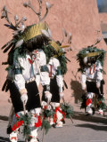 Native American Men Perform a Deer Dance in Costume Photographic Print by Ira Block