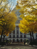 The Wisconsin State Capitol Surrounded by Lush Amber Fall Foliage Photographic Print