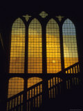 Sunlight Filters Through a Stained Glass Window Photographic Print by David Evans