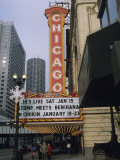 The Marquee and Sign of the Historic Chicago Theater Photographic Print by Joel Sartore