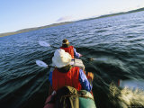 Kayakers in Drysuits Paddle Across Mingo Lake Photographic Print by John Dunn/Arctic Light
