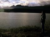 Watching the Sun Set Over Tangle Lakes, Alaska, Tangle Lakes, Glennallen, Alaska, United States Photographic Print by Stacy Gold