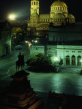 Statue of Tsar Alexander II Faces the Alexander Nevski Cathedral, Sofia, Bulgaria Photographic Print by James L. Stanfield