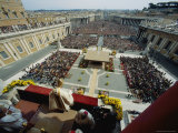 Pope John Paul II Celebrates Easter Sunday Mass, Piazza San Pietro, Vatican City Fotografisk tryk af James L. Stanfield