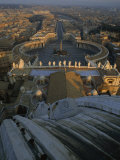 Piazza San Pietro as Seen from the Dome of Saint Peter's Basilica, Vatican City Photographic Print by James L. Stanfield