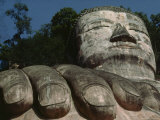 The Hand and Head of the Great Buddha of Leshan, Sichuan Province, China, Photographic Print