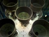 Saturn V Rocket Main Engines Fotografisk tryk af Raul Touzon
