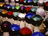 A Long Lens View of Rows of Colorful Lawn Ornament Glass Bulbs Photographic Print by Stephen St. John