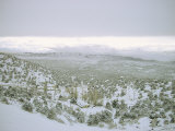 Snow Covers the Desert and Mountains near Pioche, Nevada Photographic Print by Sam Abell