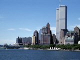The New York City Skyline Before September 11, 2001, Manhattan, New York City, NY, United States Photographic Print by Stacy Gold