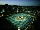 Thousands of Pilgrims Circle the Kaaba at Night, Mecca, Saudi Arabia Photographic Print by Thomas J. Abercrombie