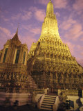 Wat Arun or Temple of Dawn, Bangkok, Thailand Fotografisk tryk af Paul Chesley
