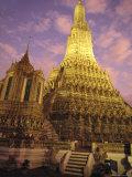 Wat Arun or Temple of Dawn, Bangkok, Thailand Fotografisk tryk af Paul Chesley