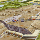 A Painting Depicting One Design Used in the Construction of a Landfill, Photographic Print