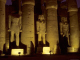 The Large Statues and Columns That Guard the Temple of Luxor Photographic Print by Stephen St. John