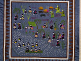 This Quilt, of the Hmong, Depicts Villagers Driven from Their Homes by Communist Forces in Vietnam Photographic Print by Robert S. Oakes