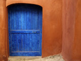 Blue Door on an Adobe House, Collioure, France, Europe Photographic Print by Stacy Gold