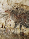 A Close-up of the Black Cow in the Nave Reveals a Frieze of Horses Photographic Print by Sisse Brimberg