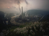 Paper Mill Spews Smoke Into the Sky, North Branch of the Potomac River at Luke, Maryland Photographic Print by James L. Stanfield