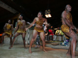 Female Native African Dancers Performing at Local Game Lodge Photographic Print by Roy Toft