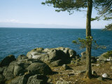 View of Juan De Fuca Strait from East Sooke Regional Park Photographic Print by Taylor S. Kennedy