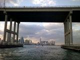 Downtown Miami Skyline Through a Biscayne Bay Bridge Photographic Print by Raul Touzon