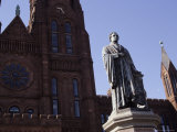 "The Statue of Founder James Smithson, Stands Before ""The Castle"" Photographic Print by Stephen St. John"