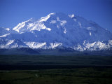 View of the Tallest Mountain in North America, Mt. Mckinley (Denali) 20,320 feet, Photographic Print