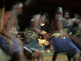 Native African Dancers Performing at Local Game Lodge Photographic Print by Roy Toft