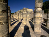 Columns with Shadows at the Temple of the Warriors Photographic Print by Raul Touzon