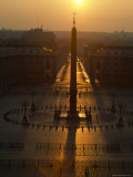 Sunrise over the Obelisk in St. Peter's Square, Vatican City Photographic Print by James L. Stanfield